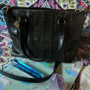 Vintage Fossil Mixed Texture Bag